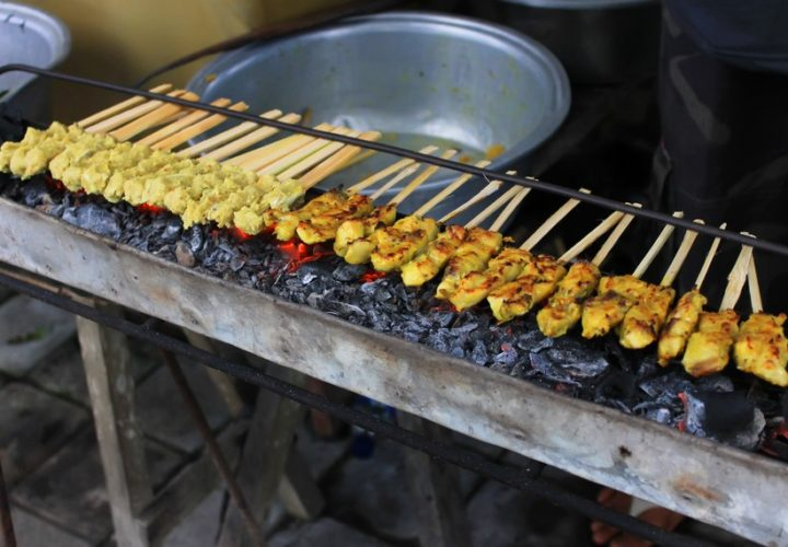 "Taste the typical ""Sate Lilit"" Twisted Satay in Klungkung"