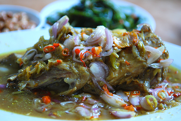 Ayam betutu, spicy chicken special culinary from Bali